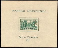 Guinée Bloc N° 1 ( . ) ,  Exposition Internationale De Paris, Le Bloc Sans Gomme Sinon TB - Neufs