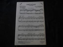 "Partition Chanson Cha Cha Francis Blanche ""Frénésie"" - Partitions Musicales Anciennes"