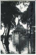 - 7 - SOUVENIR D´INDOCHINE - Cambodge, Phnom Penh, Le Palais Royal  à Haute Eaux, Glacée, TTBE, ScansLe - Cambodge