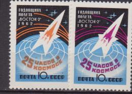 RUSSI URSS SPAZIO SPACE 2V.  MNH - Space