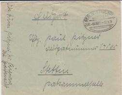 Bahnpost Berlin - Stralsund Bf Feldpost 2 Weltkrieg 1939 - Briefe U. Dokumente