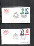 2 FDC Ordre De Malte 1967 -Série Complète - Malte (Ordre De)