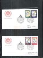 2 FDC Ordre De Malte 1968 -Série Complète - Malte (Ordre De)