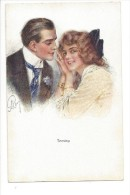 13274 - Couple Amoureux Teasing Editeur John Neury Genève - Paare
