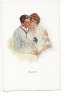 13275 - Couple Amoureux Happyness Editeur John Neury Genève - Paare
