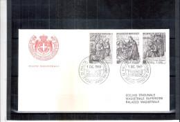 2 FDC Ordre De Malte 1969 -Série Complète - Noël - Malte (Ordre De)