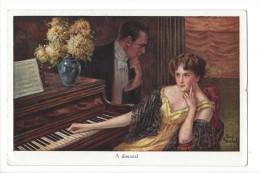 13277 - Couple Au Piano A Discord Editeur John Neury Genève - Couples