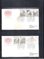 2 FDC Ordre De Malte 1970 -Série Complète - Assistance Hospitalière - Malte (Ordre De)