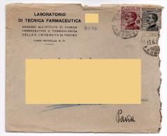 1929 - TORINO - Farmacia Farmaceutica Chimica Tossicologia Regia Università - Medico Medicina - Storia Postale Regno - 1900-44 Victor Emmanuel III.