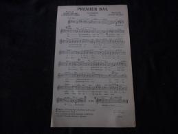 "Partition Jazz Chanson ""Premier Bal ""Sidney Bechet & Bernard Dimey - Partitions Musicales Anciennes"