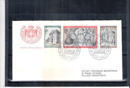 1 FDC Ordre De Malte 1970 -Série Complète - Noël - Malte (Ordre De)