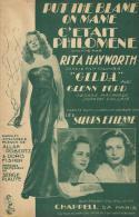 "7709P - Les Soeurs Etienne   Rita Haywoth        Put The Blame  On Name  Du Film   "" Gilda  "" - Musica & Strumenti"