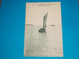 17 ) Royan N° 118 - Voillier En Pleine Mer ( Et Le Bateau Phare )  - Annee  - édit - D.B - Royan