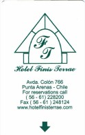 HOTEL FINIS TERRAE  ESPAÑA , Llave Clef Key Keycard Hotelkarte - Hotel Labels