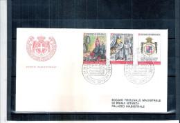 1 FDC Ordre De Malte 1972 -Série Complète - Malte (Ordre De)