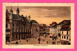 Neuss Am Rhein - Marktplatz Mit Rathaus - Animée - J.W.B. Nr. 122 - Colorisée - Neuss