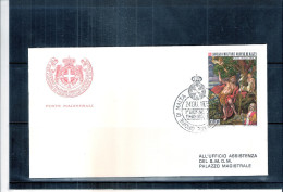 1 FDC Ordre De Malte 1973 -Série Complète - Tableau - Malte (Ordre De)