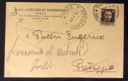 FORLI´ 1936 - AVVOCATO ANGELO MESSEA - CARTOLINA AUTOGRAFA CON FIRMA - Pubblicitari