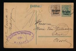 BRIEFKAART 1916 VAN HEKELGEM   NAAR ASSCHE - DUITSE STEMPEL  BRUSSEL CTR