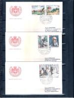 3 FDC Ordre De Malte 1973 -Série Complète - Lutte Contre La Lèpre - Malte (Ordre De)