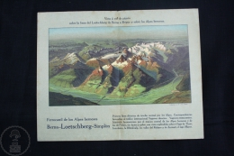 Old Switzerland Bern - Loetscberg - Simplón Alps Railway Line From Bern To Brigue - Parcial View - Bird´s-eye View - Turismo