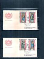 2 FDC Ordre De Malte 1974 -Série Complète - Tableaux - Malte (Ordre De)