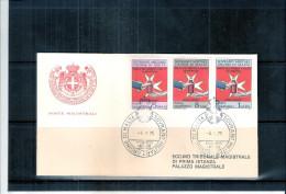 1 FDC Ordre De Malte 1975 -Série Complète - Banque Du Sang - Malte (Ordre De)