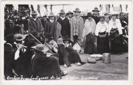 Ecuador - Otavalo, Costumbres Indigenas De Los Otavalos - With Nice Stamp 1966 - Ecuador