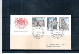 1 FDC Ordre De Malte 1976 -Série Complète - Architecture - Batiments - Malte (Ordre De)