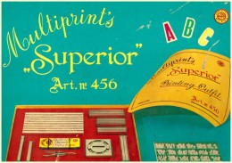 Jeu Multiprint´s  Superior Art N 456 Tampons Encre  Printing Outfit - Altre Collezioni