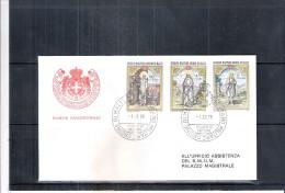 1 FDC Ordre De Malte 1976 -Série Complète - Noël - Malte (Ordre De)
