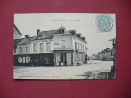 Cpa.r - Lieurey (27) - Place De L'église - Café Alix - Chaussures Rault-roussel - Café Du Petit Parisien - éd.douthwaite - Autres Communes