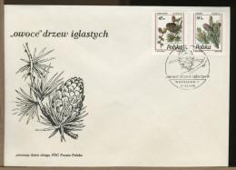 POLSKA - FDC - LARIX - LARICE - Vegetazione