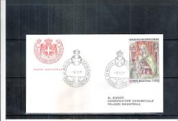 1 FDC Ordre De Malte 1977 -Série Complète - Noël - Madonne - Malte (Ordre De)
