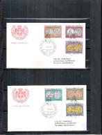 2 FDC Ordre De Malte 1978 -Série Complète - Monnaies - Malte (Ordre De)