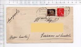 1933 - VEZZANO SUL CROSTOLO - ALBA -  Storia Postale Regno - 1900-44 Victor Emmanuel III.