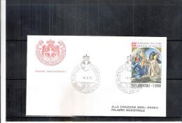 1 FDC Ordre De Malte 1978 -Série Complète - Tableau - La Vierge - Malte (Ordre De)