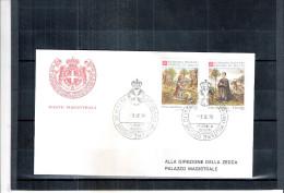1 FDC Ordre De Malte 1979 -Série Complète - Noël - Malte (Ordre De)