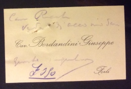 FORLI´ 1920   - BIGLIETTO CAV.BORDANDINI GIUSEPPE - Titres De Transport
