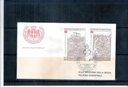 1 FDC Ordre De Malte 1980 -Série Complète - Malte (Ordre De)
