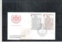 1 FDC Ordre De Malte 1980 -Série Complète - Noël - Malte (Ordre De)