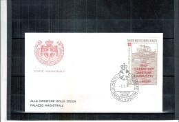 1 FDC Ordre De Malte 1981 -Série Complète - Surchargé PRO TERREMOTATI - Malte (Ordre De)