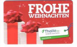 Germany - Allemagne - Thalia - Christmas - Carte Cadeau - Carta Regalo - Gift Card - Geschenkkarte - Gift Cards