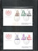 2 FDC Ordre De Malte 1981 -Série Complète - Grands Maîtres - Malte (Ordre De)