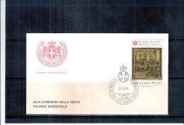 1 FDC Ordre De Malte 1981 -Série Complète - Malte (Ordre De)