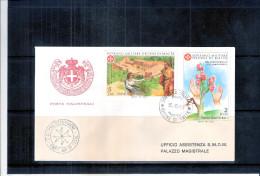 1 FDC Ordre De Malte 1981 -Série Complète - Année De La Personne Handicapée - Malte (Ordre De)