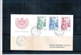 1 FDC Ordre De Malte 1981 -Série Complète - Noël - Malte (Ordre De)