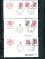 3 FDC Ordre De Malte 1982 -Série Complète - Blasons - Armoiries - Malte (Ordre De)