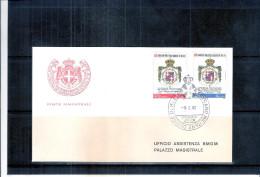 1 FDC Ordre De Malte 1982 -Série Complète - Blasons - Armoiries - Malte (Ordre De)