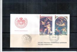 1 FDC Ordre De Malte 1983 -Série Complète - Noël - Tableaux - Malte (Ordre De)